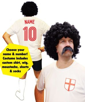 England Football Player Custom Fancy Dress Costume
